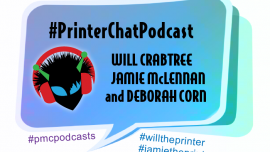 a topical podcast about printers, print and marketing